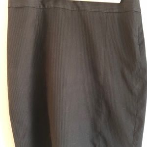 The Limited black pinstripe suit skirt